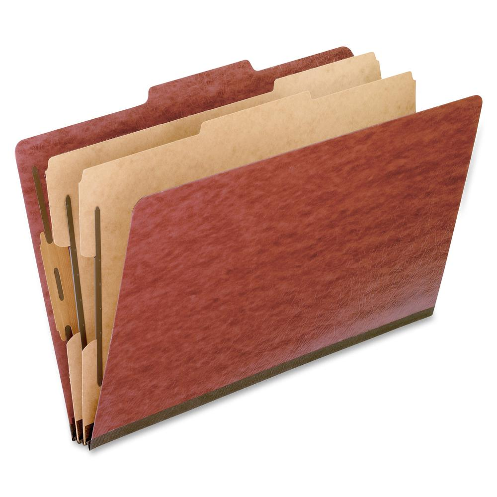 """Pendaflex 2/5 Tab Cut Legal Recycled Classification Folder - 8 1/2"""" x 14"""" - 2"""" Expansion - 4 Fastener(s) - 2"""" Fastener Capacity for Folder, 1"""" Fastener Capacity for Divider - 2 Divider(s) - Pressboard. Picture 2"""
