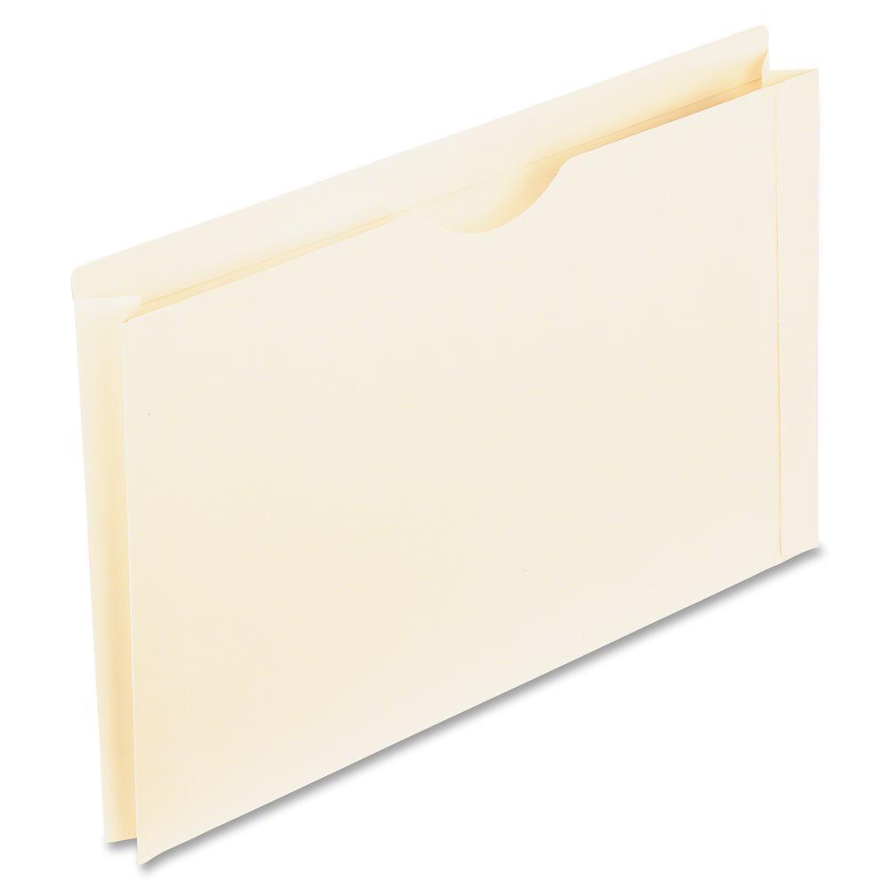 "Pendaflex Manila Reinforced File Jackets - Legal - 8 1/2"" x 14"" Sheet Size - 2"" Expansion - 11 pt. Folder Thickness - Manila - Manila - Recycled - 50 / Box"