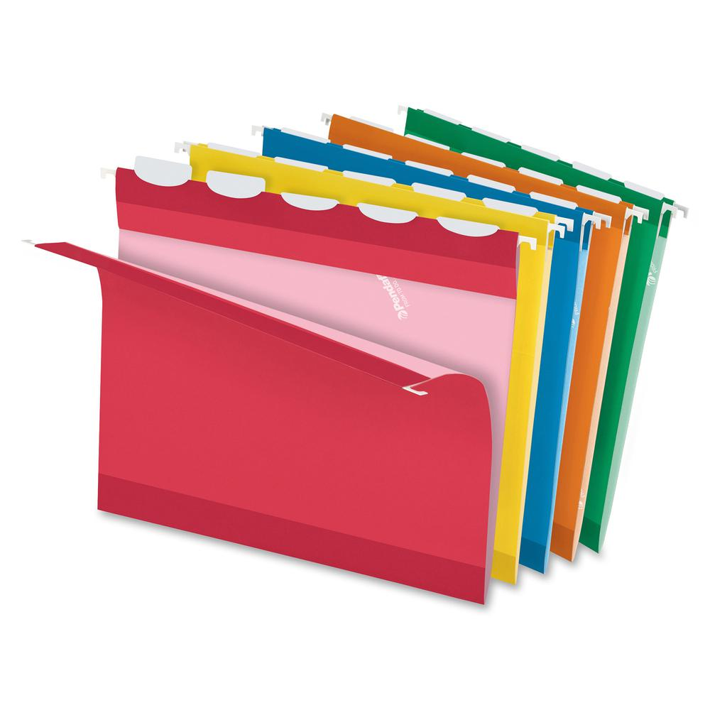 """Pendaflex Ready-Tab 1/5 Tab Cut Letter Recycled Hanging Folder - 8 1/2"""" x 11"""" - Assorted - 10% - 25 / Box. Picture 2"""