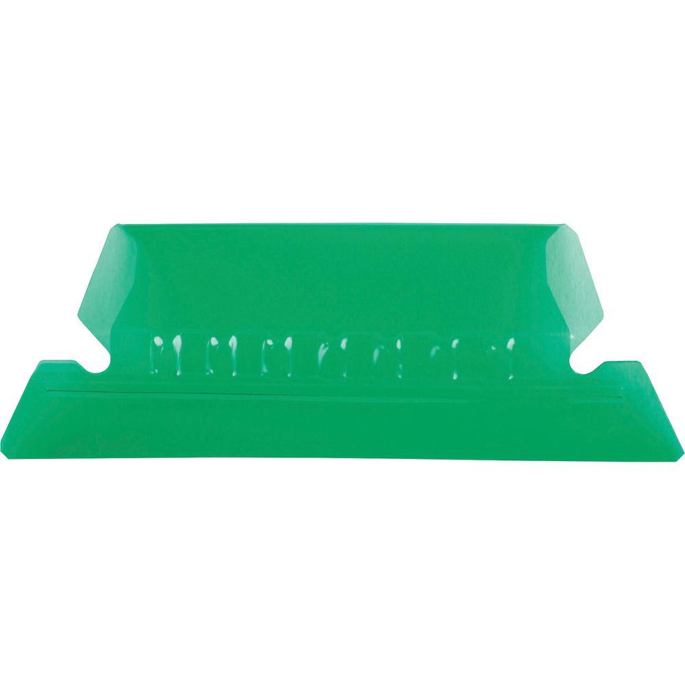 "Pendaflex Hanging Folder Plastic Tabs - 25 Tab(s) - 5 Tab(s)/Set2"" Tab Width - Green Plastic Tab(s) - 25 / Pack. Picture 2"