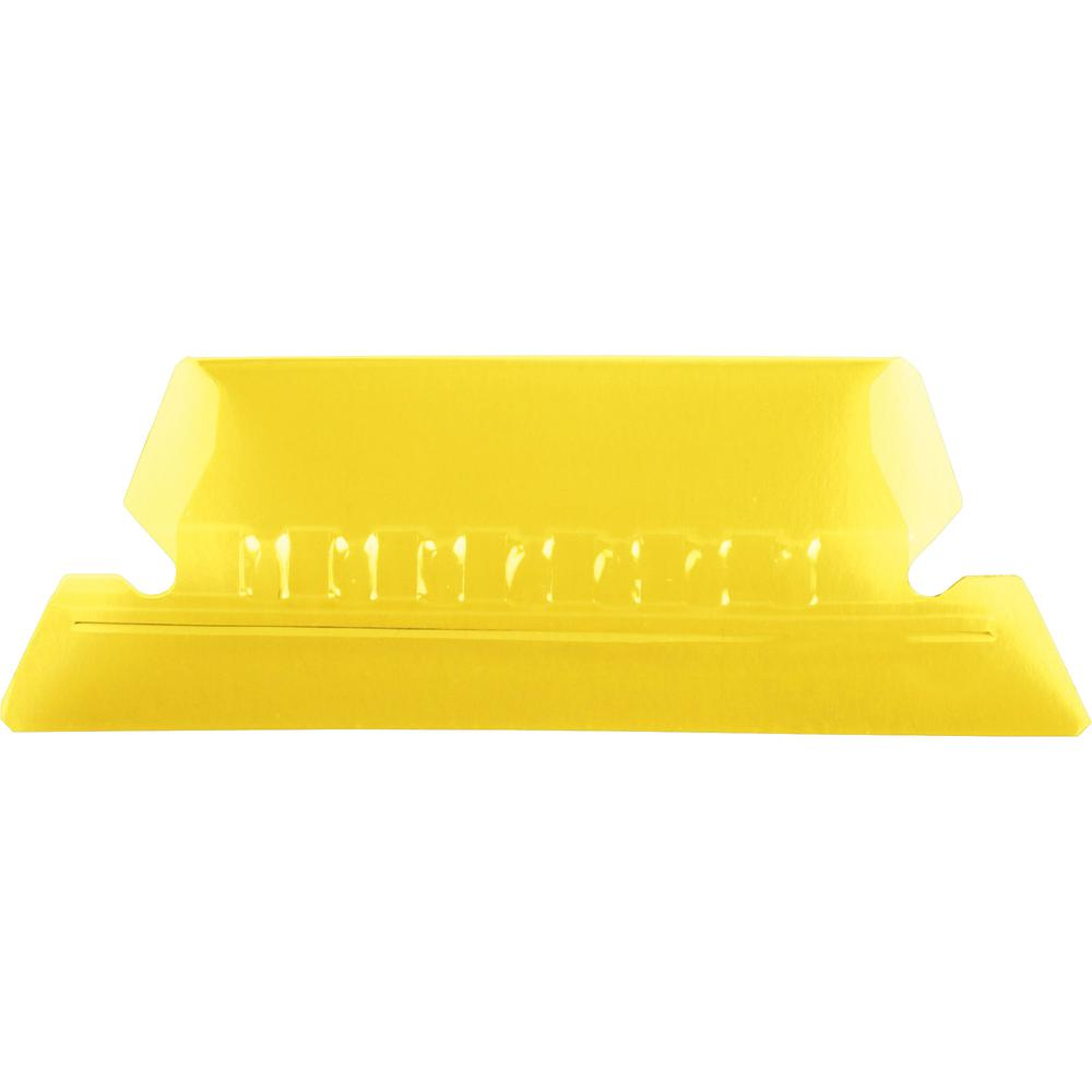 "Pendaflex Hanging Folder Plastic Tabs - 25 Tab(s) - 5 Tab(s)/Set2"" Tab Width - Yellow Plastic Tab(s) - 25 / Pack. Picture 2"