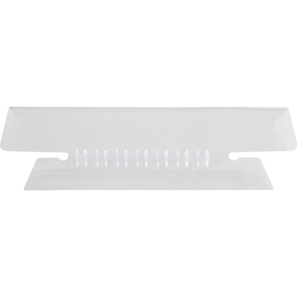 "Pendaflex Hanging Folder Plastic Insertable Tabs - 25 Tab(s)3.50"" Tab Width - Clear Plastic Tab(s) - 25 / Pack. Picture 3"