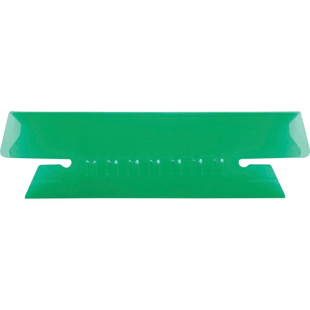"Pendaflex Hanging Folder Plastic Insertable Tabs - 25 Tab(s) - 3 Tab(s)/Set3.50"" Tab Width - Green Plastic Tab(s) - 25 / Pack. Picture 2"