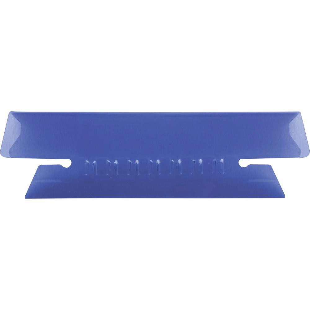 "Pendaflex Hanging Folder Plastic Insertable Tabs - 25 Tab(s) - 3 Tab(s)/Set3.50"" Tab Width - Violet Plastic Tab(s) - 25 / Pack. Picture 2"