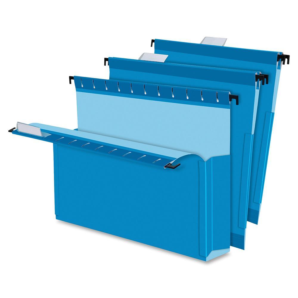 "Pendaflex SureHook Letter Recycled Hanging Folder - 8 1/2"" x 11"" - 2"" Expansion - Blue - 10% - 25 / Box. Picture 5"