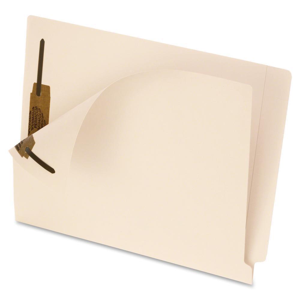 "Pendaflex Smart Shield Manila End-Tab Folders - Letter - 8 1/2"" x 11"" Sheet Size - 2 Fastener(s) - 2"" Fastener Capacity - 11 pt. Folder Thickness - Manila - Manila - Recycled - 50 / Box. Picture 2"