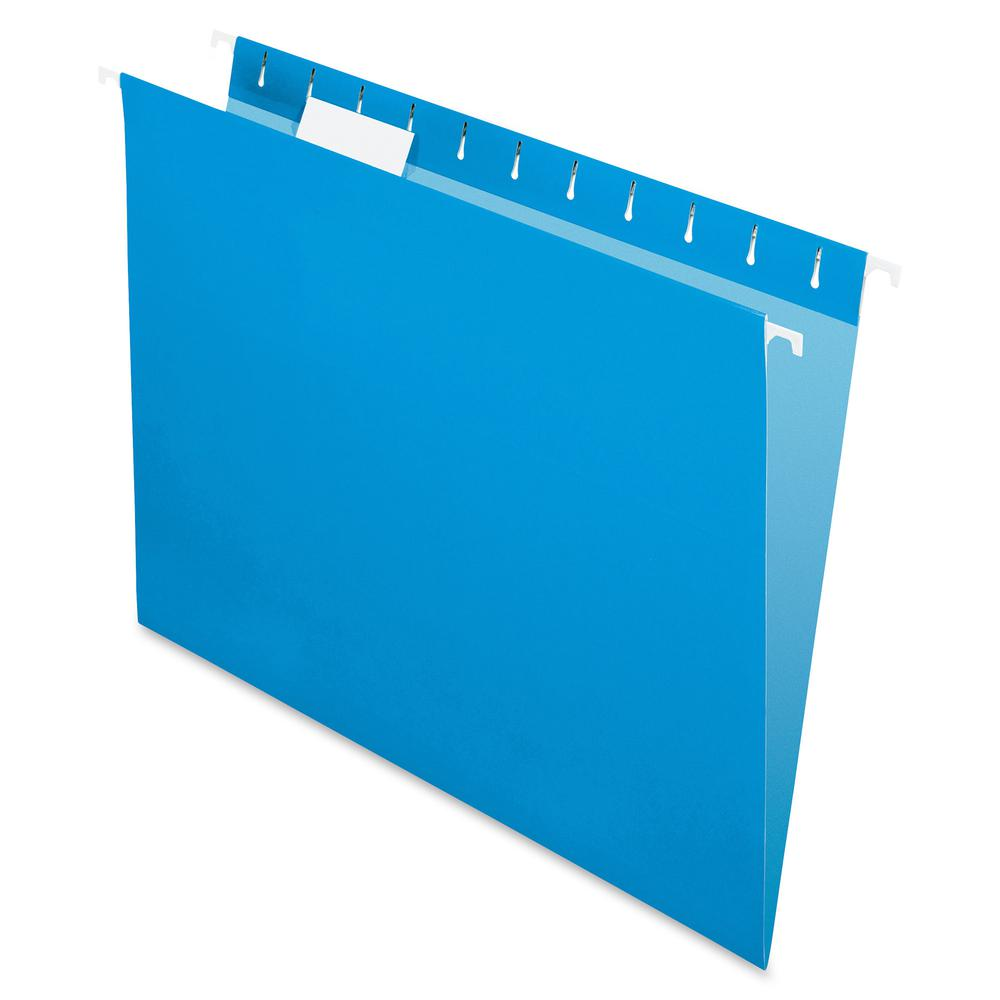 """Pendaflex Colored Hanging Folders - Letter - 8 1/2"""" x 11"""" Sheet Size - 1/5 Tab Cut - Blue - Recycled - 25 / Box. Picture 2"""
