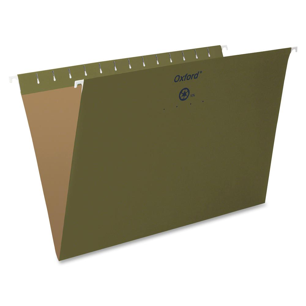 """Pendaflex Essentials Legal Recycled Hanging Folder - 8 1/2"""" x 14"""" - Standard Green - 100% - 25 / Box. Picture 2"""