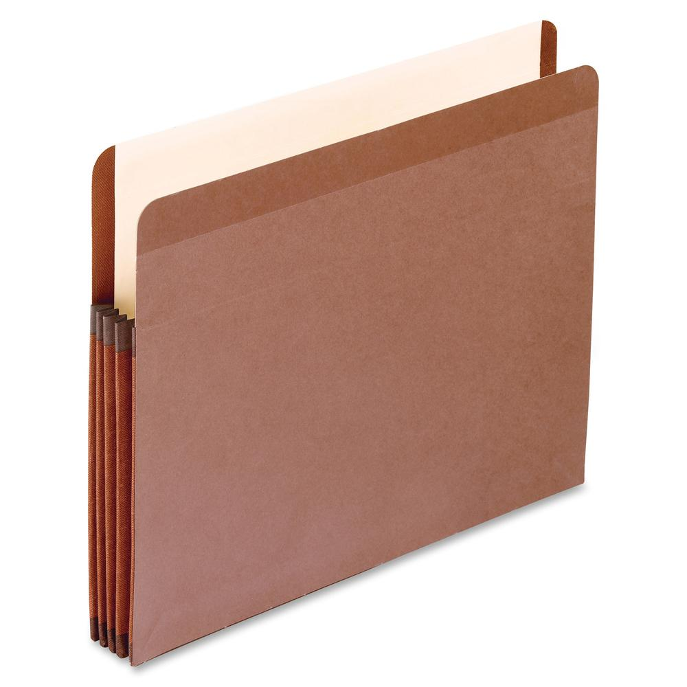 """Pendaflex Letter Recycled Expanding File - 8 1/2"""" x 11"""" - 3 1/2"""" Expansion - Red Fiber - Red Fiber - 10% - 10 / Box. Picture 2"""