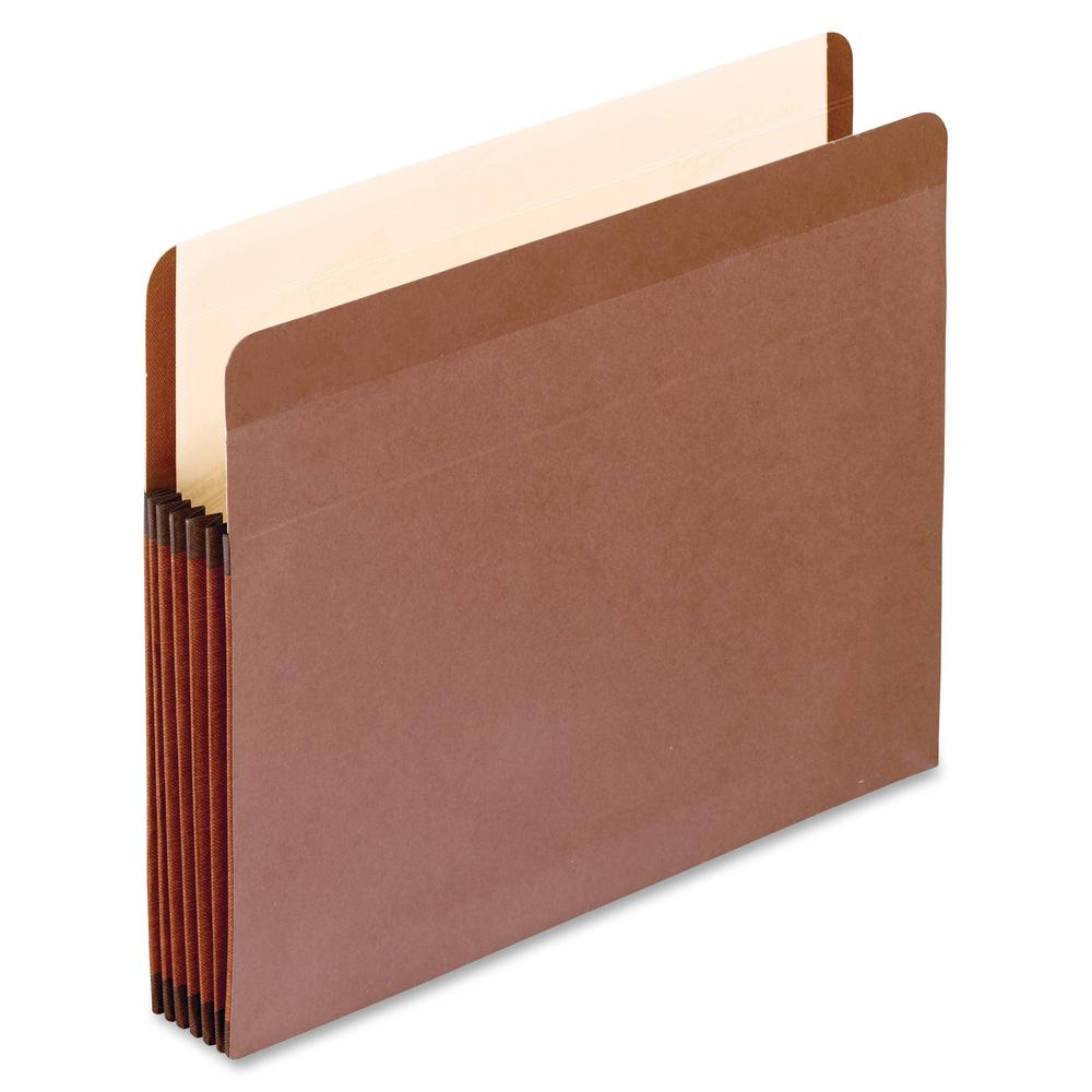 """Pendaflex Legal Recycled Expanding File - 8 1/2"""" x 14"""" - 5 1/4"""" Expansion - Red Fiber - Red Fiber, Manila - 10% - 5 / Box. Picture 2"""