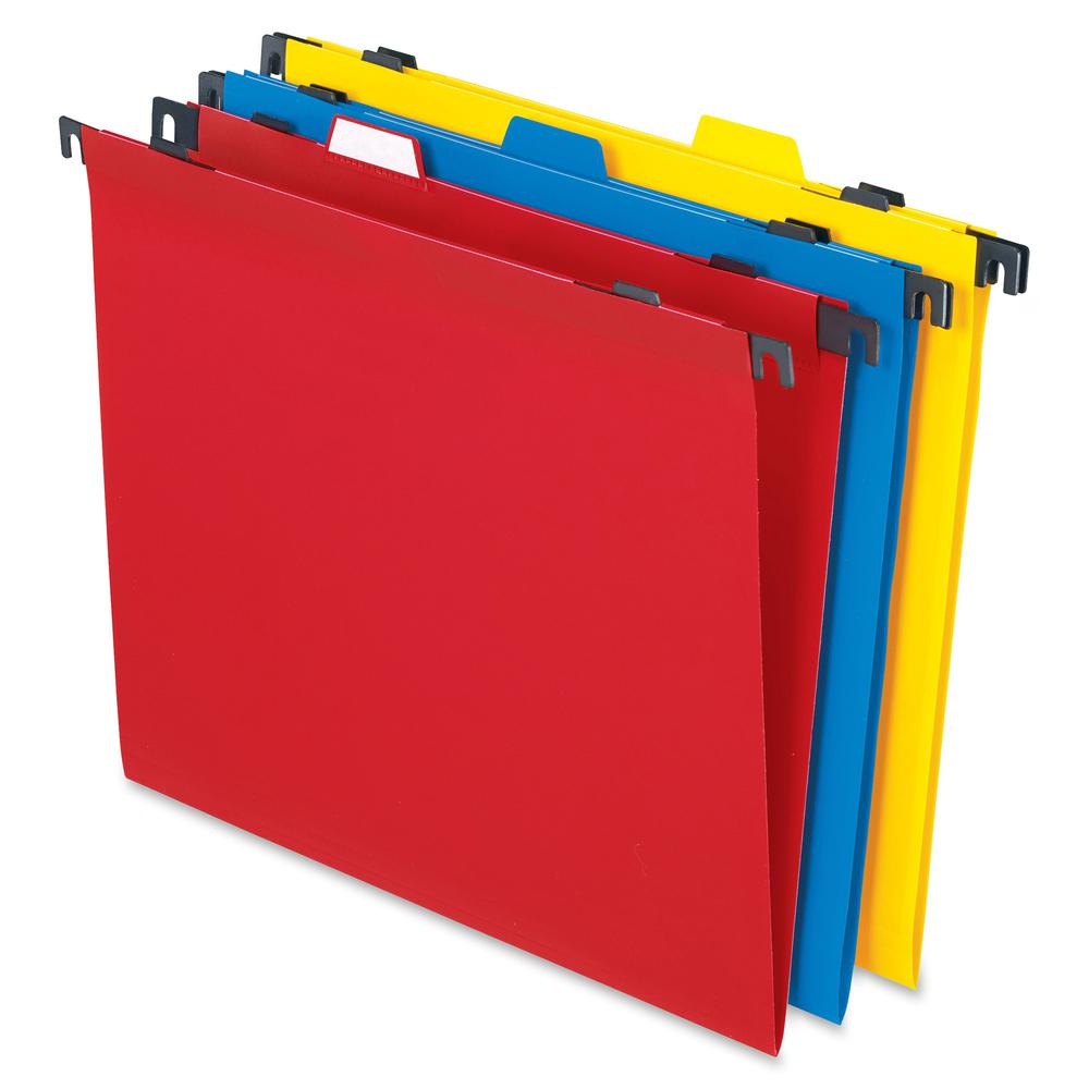 """Pendaflex 2-In-1 Poly Hanging/File Folders - Letter - 8 1/2"""" x 11"""" Sheet Size - Poly - Assorted - 10 / Pack. Picture 2"""