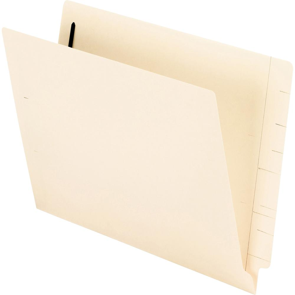 "Pendaflex Manila End Tab Fastener Folders - Letter - 8 1/2"" x 11"" Sheet Size - 3/4"" Expansion - 2 Fastener(s) - 2"" Fastener Capacity for Folder - 11 pt. Folder Thickness - Manila - Recycled - 50 / Box. Picture 2"