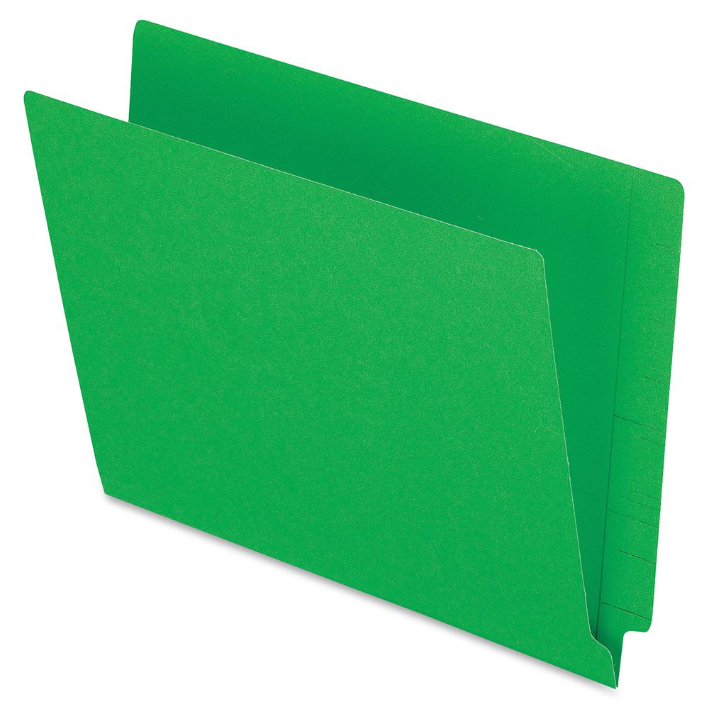 "Pendaflex Letter Recycled End Tab File Folder - 8 1/2"" x 11"" - 3/4"" Expansion - Green - 10% - 100 / Box. Picture 2"