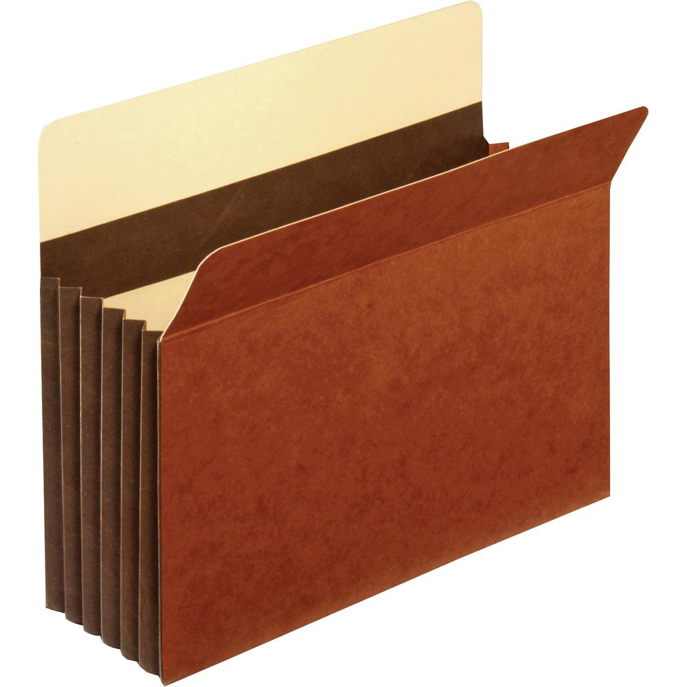 """Pendaflex Letter Recycled Expanding File - 8 1/2"""" x 11"""" - 5 1/4"""" Expansion - Tyvek - Brown - 10% - 10 / Box. Picture 2"""