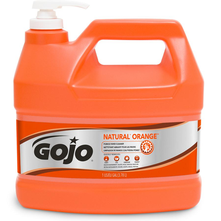Gojo® Natural Orange Pumice Hand Cleaner - Citrus Scent - 1 gal (3.8 L) - Hand - White - 1 Each. Picture 2
