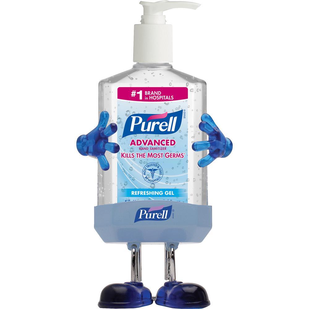 PURELL® Sanitizing Gel - 8 fl oz (236.6 mL) - Pump Bottle Dispenser - Hand - Transparent Blue - 1 / Kit. Picture 2