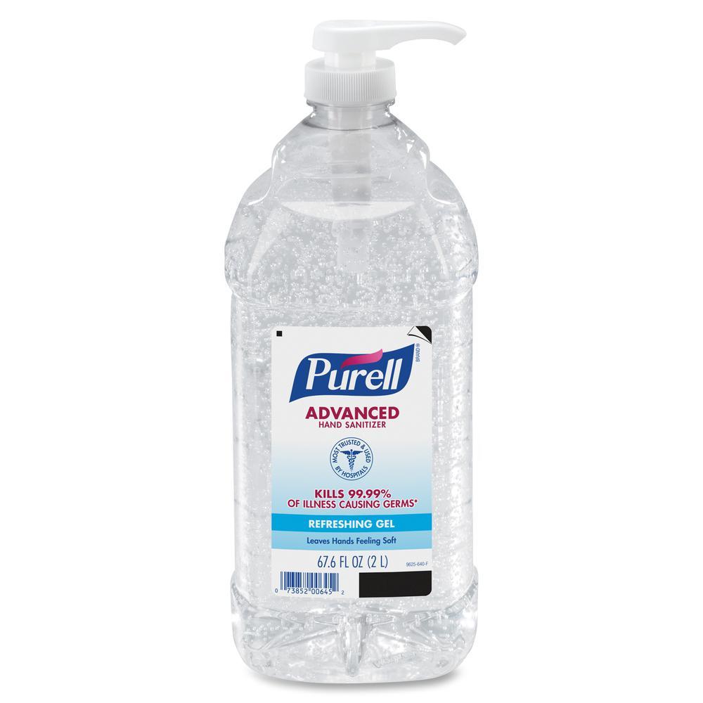 PURELL® Sanitizing Gel - 67.6 fl oz (2 L) - Pump Bottle Dispenser - Hand - Clear - 1 Each. Picture 5