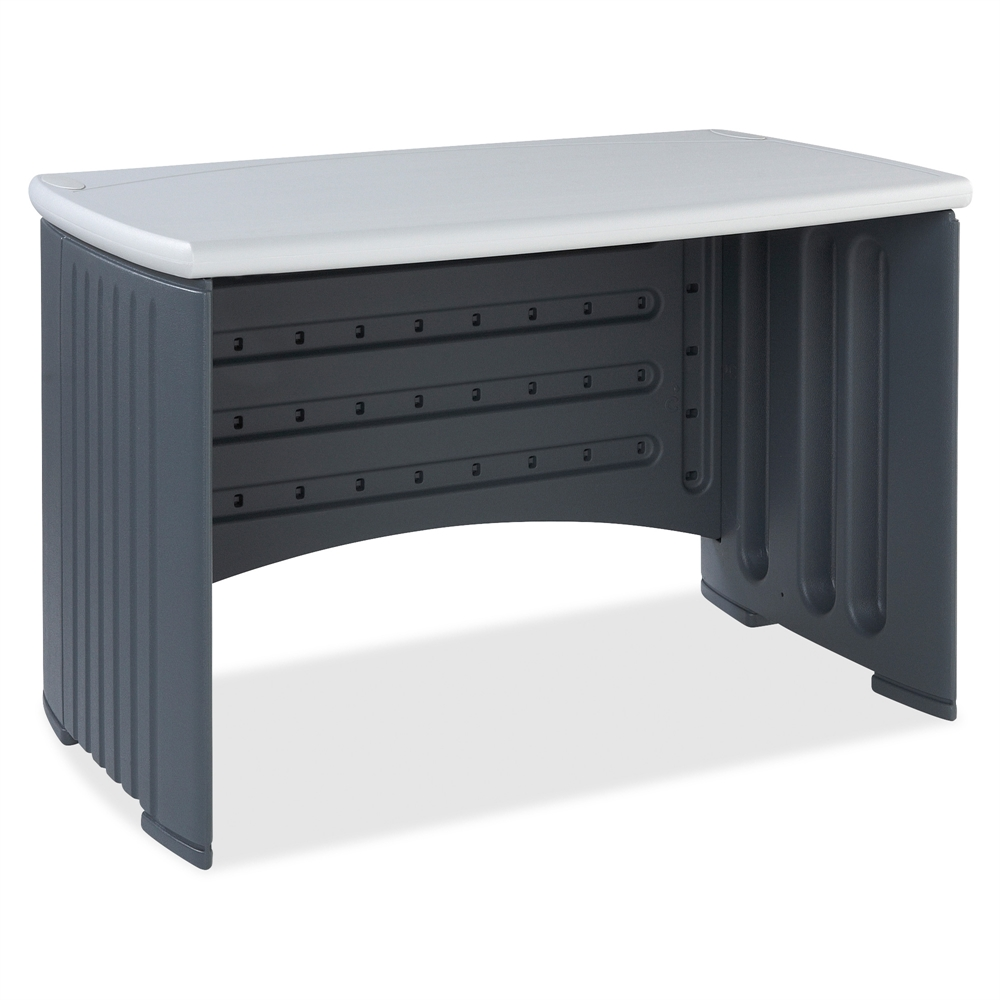 "Iceberg SnapEase Computer Desk, 46"" Length, Charcoal/Silver. Picture 2"