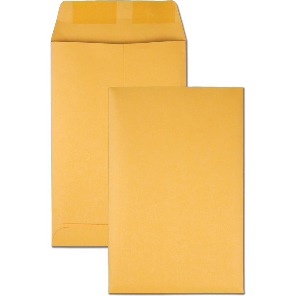 "Quality Park Kraft Catalog Envelopes - Catalog - #1 - 6"" Width x 9"" Length - 28 lb - Gummed - Kraft - 100 / Box - Kraft. Picture 4"
