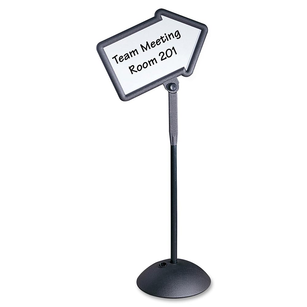 """Safco Write Way Dual-sided Directional Sign - 1 Each - 18"""" Width x 64.3"""" Height - Arrow Shape - Both Sides Display, Magnetic, Durable - Steel - Black. Picture 3"""
