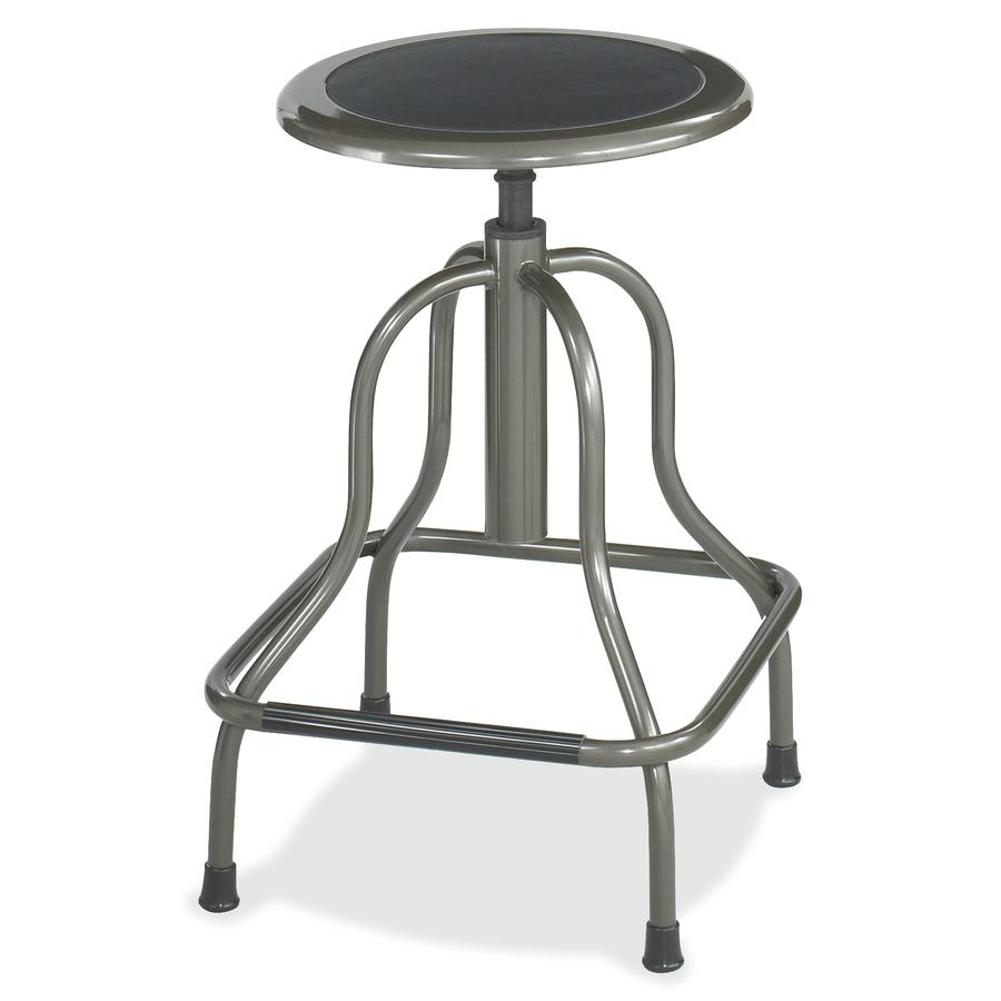 Safco Diesel Series High Base Stool with out Back - 250 lb Load Capacity - Steel - Pewter. Picture 2