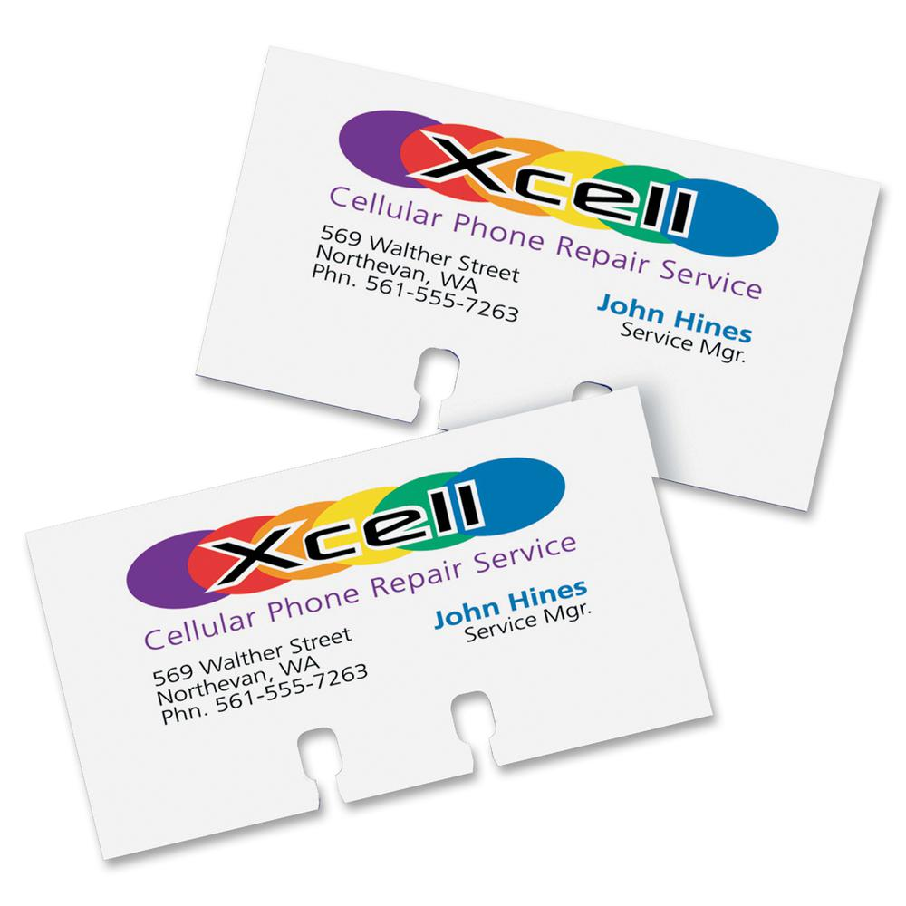 """Avery® Uncoated Rotary Cards - 2-Sided Printing - For 2.17"""" x 4"""" Size Card - White. Picture 6"""