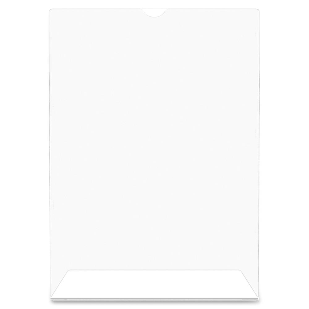 """Deflecto Superior Image Slanted Sign Holders - 1 Each - 7"""" Width x 5"""" Height - Top Loading - Plastic - Clear. Picture 3"""