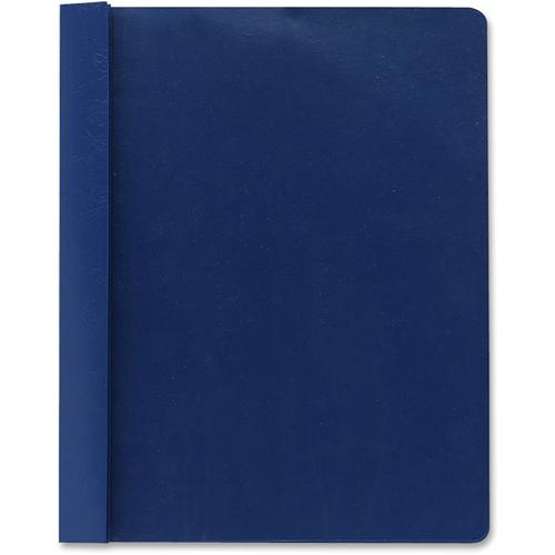 """Smead Letter Recycled Report Cover - 8 1/2"""" x 11"""" - 3 Fastener(s) - 1/2"""" Fastener Capacity for Folder - Vinyl - Blue - 50% - 25 / Box. Picture 5"""