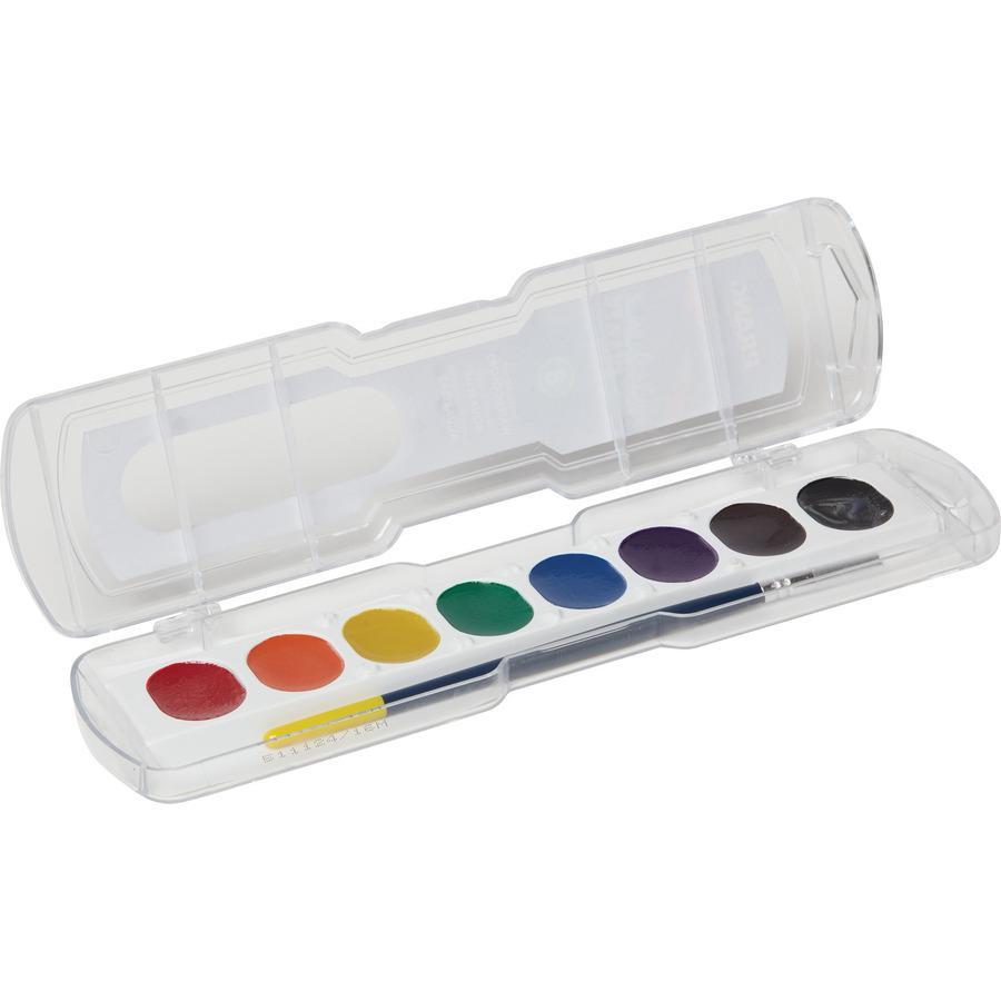 Dixon Semi-Moist Washable Watercolors - 0.10 fl oz - 8 / Set - Assorted. Picture 2