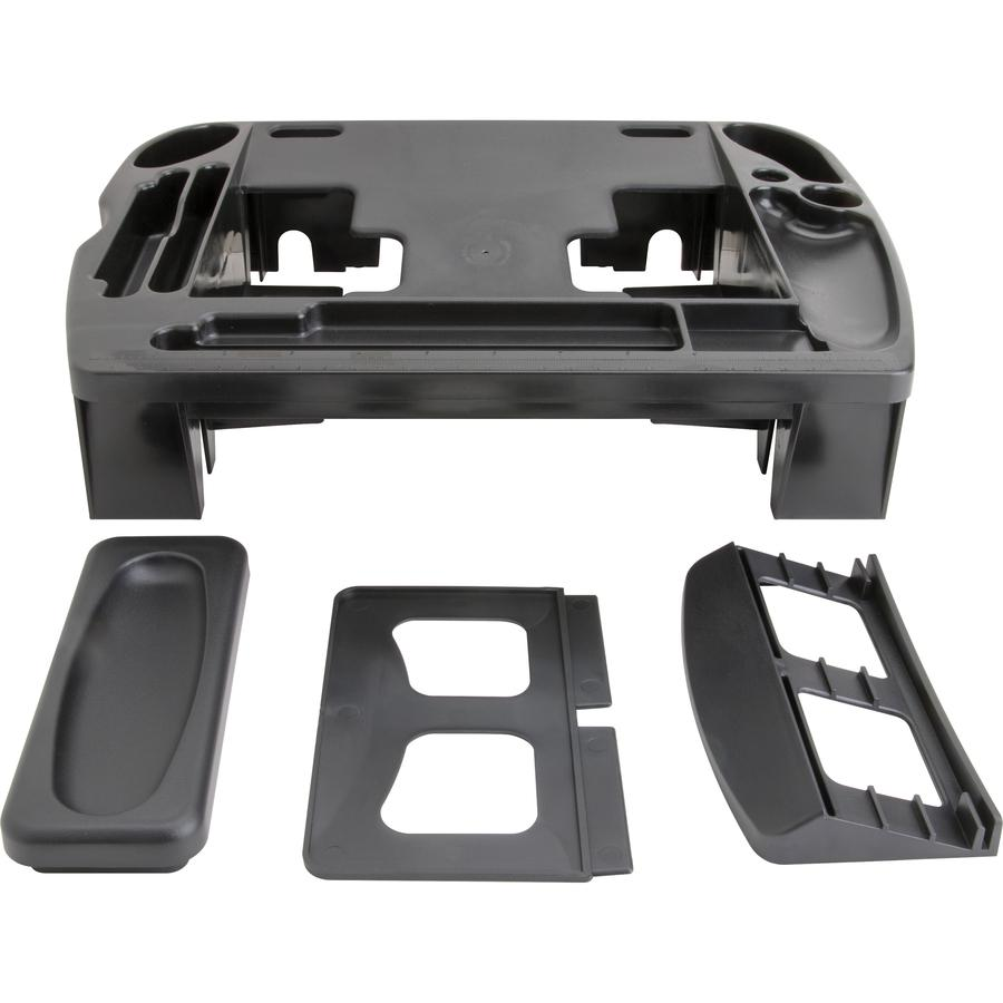 """Compucessory Telephone Stand/Organizer - 5"""" Height x 11.5"""" Width x 9.5"""" Depth - Desktop - Non-skid Base, Cable Management - Black - Plastic - 1 Each. Picture 4"""