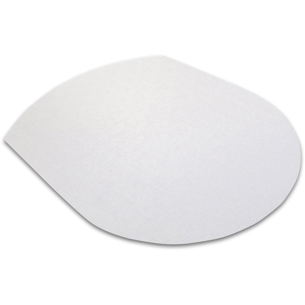 """Cleartex Ultimat Chair Mat, Contoured Shape, Clear Polycarbonate, For Hard Floor, Size 39"""" x 49"""". Picture 5"""