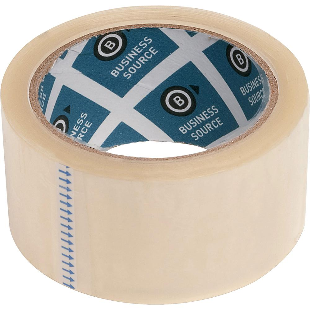 """Business Source 3"""" Core Sealing Tape - 55 yd Length x 1.88"""" Width - 3"""" Core - Pressure-sensitive Poly - 2 mil - Adhesive Backing - 6 / Pack - Clear. Picture 9"""