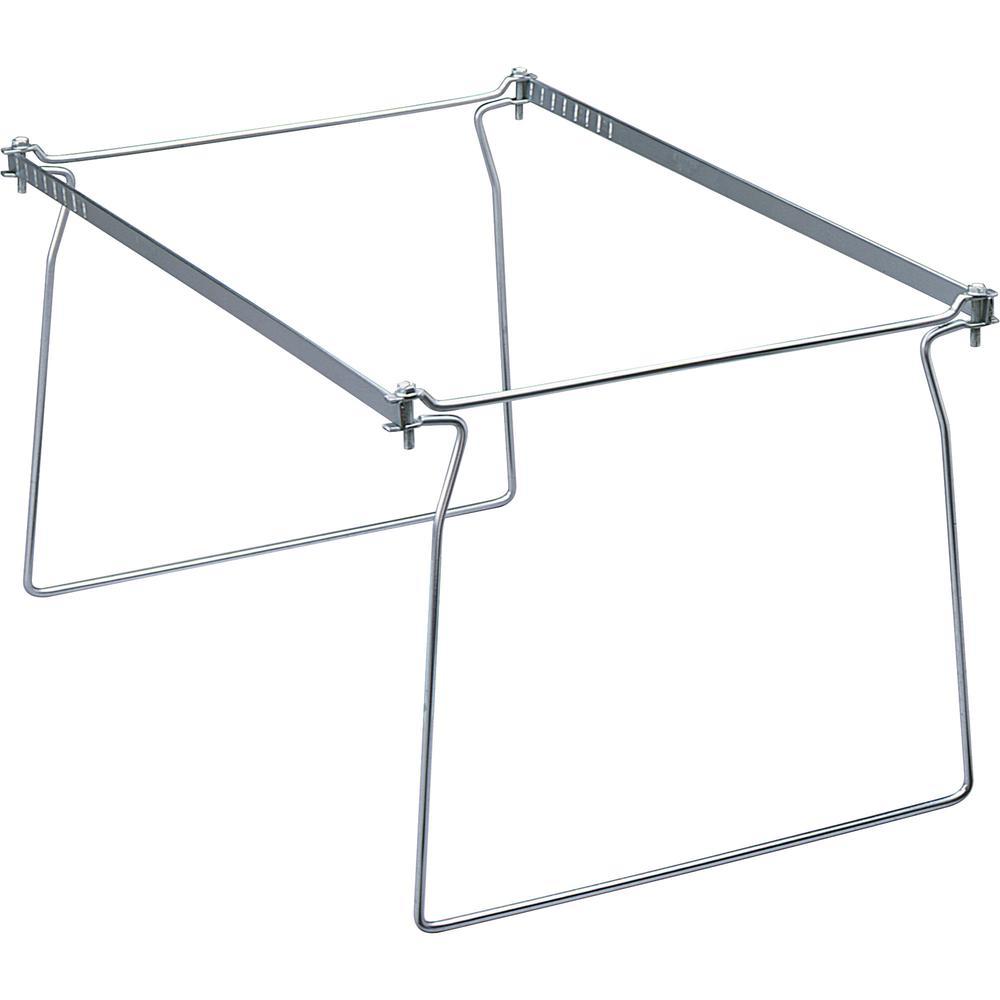 "Smead Hanging Folder Frames - Letter - 23""-27"" Long - Steel - Gray - 2 / Pack. Picture 11"