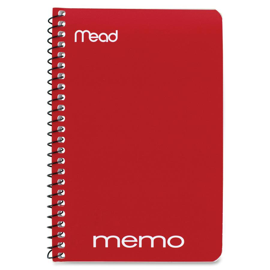 """Mead Wirebound Memo Notebook - 40 Sheets - Wire Bound - 4"""" x 6"""" - Assorted Paper - Tan Cover - Board Cover - 1 / Each. Picture 2"""