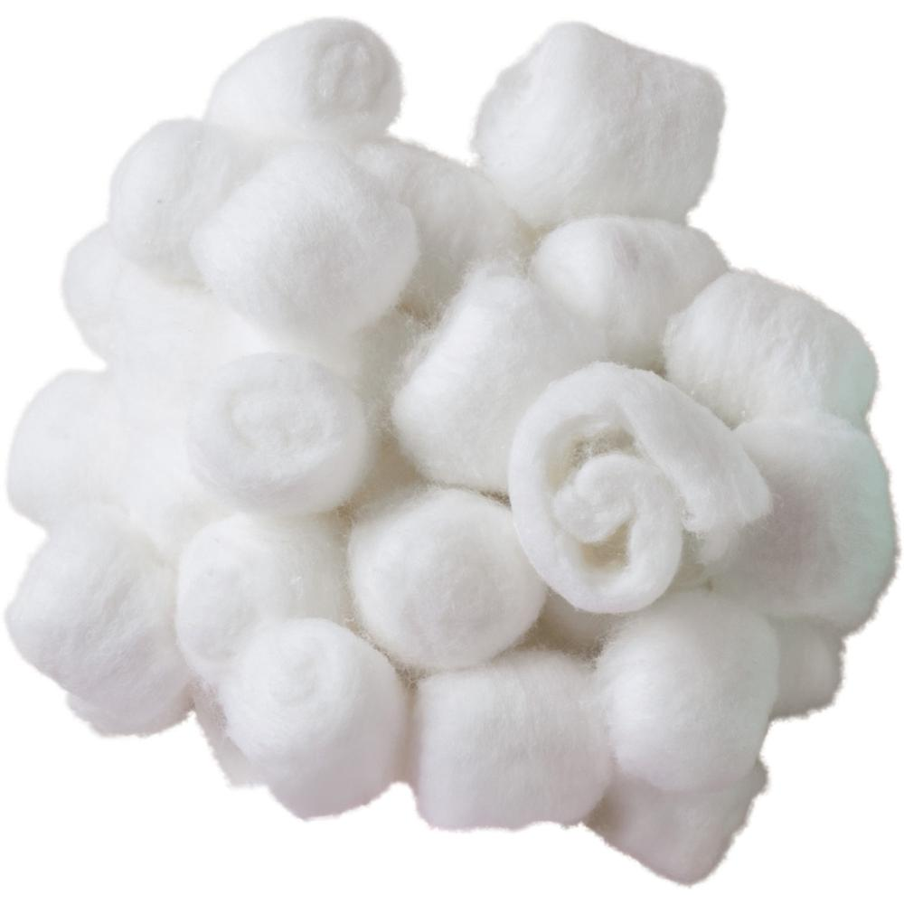 Creativity Street White Craft Fluffs - Decoration, Painting - 100 Piece(s) - 100 / Pack - White. Picture 3