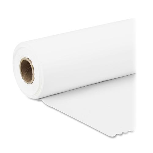 """Genuine Joe Banquet-size Plastic Tablecover - 300 ft Length x 40"""" Width - Plastic - White - 1 Roll. Picture 3"""