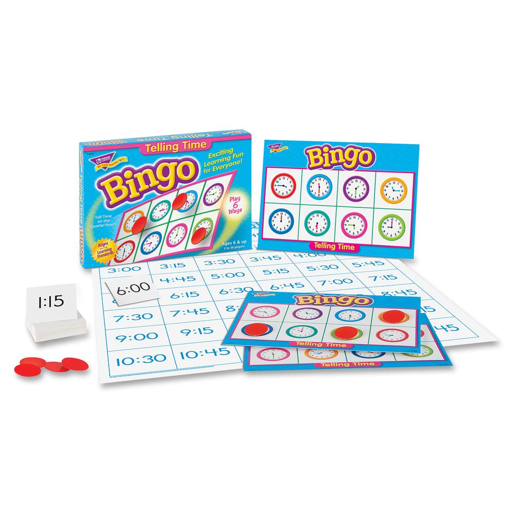 Trend Telling Time Bingo Game - Theme/Subject: Learning - Skill Learning: Time, Language - 6-8 Year. Picture 6