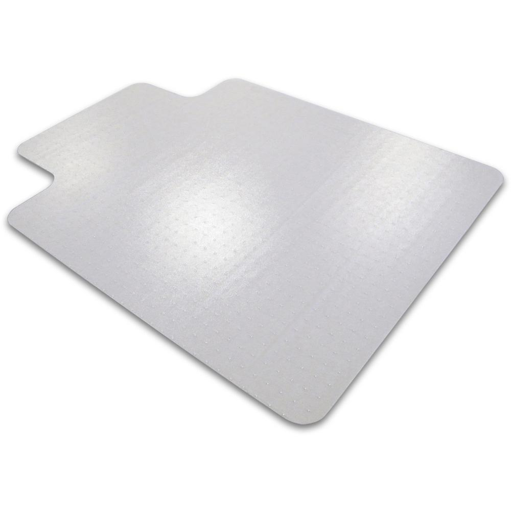 """Cleartex Ultimat Chair Mat, Clear Polycarbonate, For Low & Medium Pile Carpets (up to 1/2""""), Rectangular with Lip, Size 35"""" x 47"""". Picture 1"""