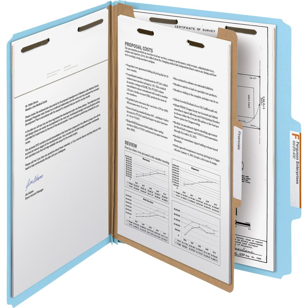 """Smead 100% Recycled Classification Folders - Letter - 8 1/2"""" x 11"""" Sheet Size - 2"""" Expansion - 2 x 2K Fastener(s) - 1"""" Fastener Capacity, 2"""" Fastener Capacity - 2/5 Tab Cut - Top Tab Location - Right . Picture 4"""