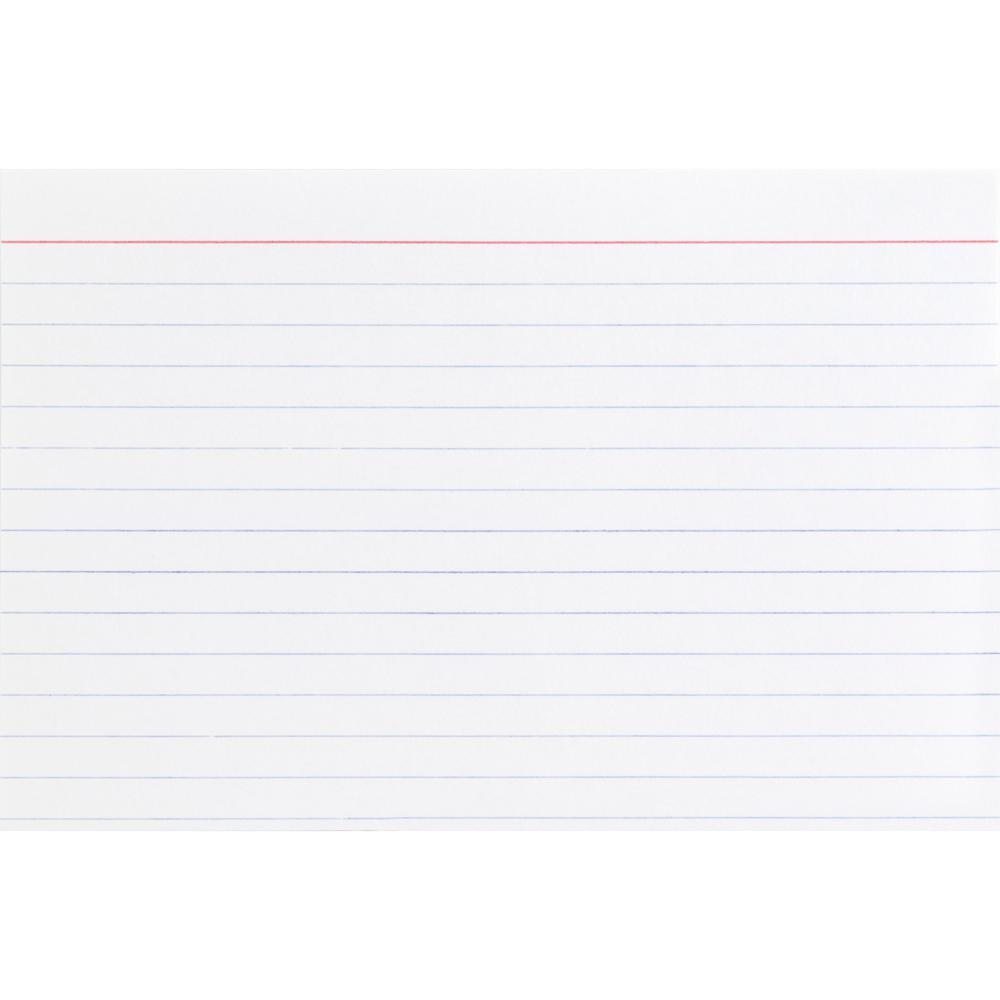 """Business Source Ruled White Index Cards - 6"""" Width x 4"""" Length - 100 / Pack. Picture 6"""