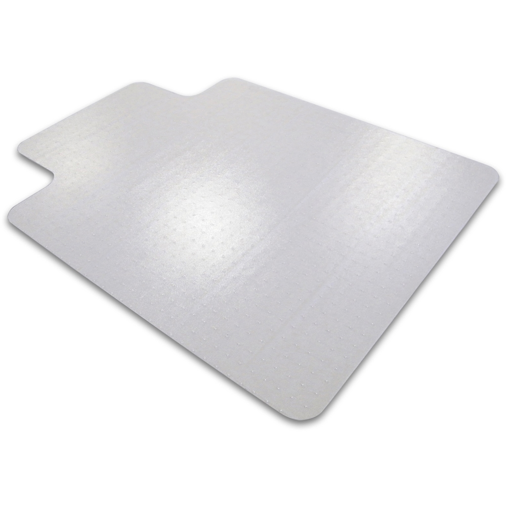 "Cleartex Ultimat Chair Mat, Rectangular with Lip, Clear Polycarbonate, For Plush Pile Carpets (over 1/2""), Size 35"" x 47"". Picture 3"