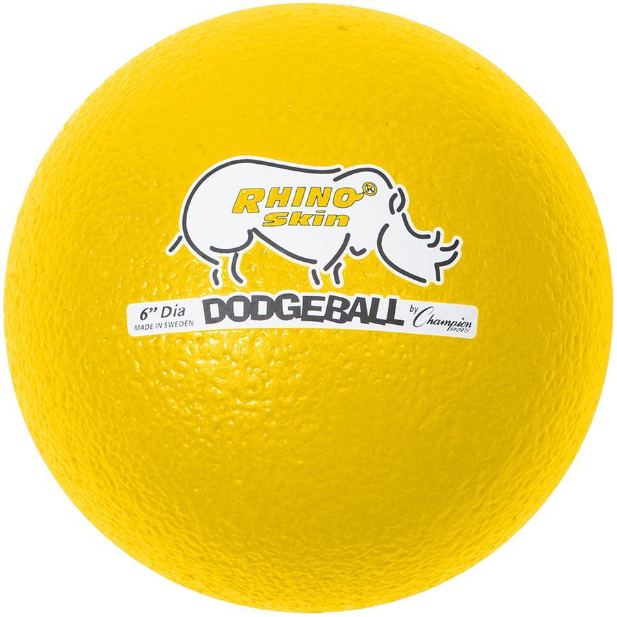 "Champion Sports 6 Inch Rhino Skin Low Bounce Dodgeball Set - 6.30"" - Low Density Foam - Dodgeball - Red, Orange, Yellow, Green, Blue, Purple - 8 / Case. Picture 6"