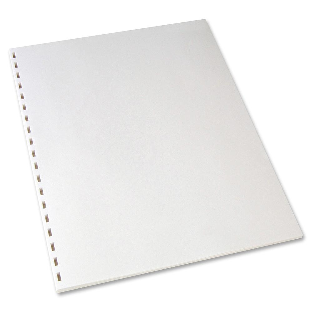 """GBC CombBind 19-Hole Punched Inkjet, Laser Binder Paper - Letter - 8 1/2"""" x 11"""" - 20 lb Basis Weight - 500 / Pack - White. Picture 3"""