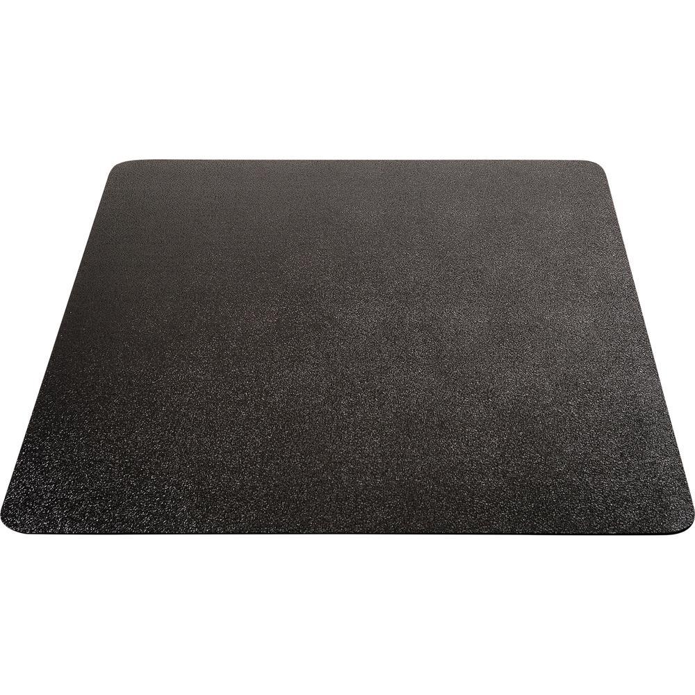"Deflecto Black EconoMat for Hard Floors - Hard Floor, Office, Carpeted Floor, Breakroom - 60"" Length x 46"" Width - Rectangle - Vinyl - Black. Picture 7"