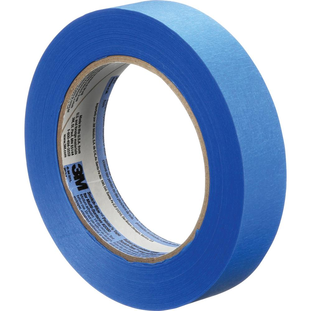 "ScotchBlue Multi-Surface Painter's Tape - 60 yd Length x 0.94"" Width - 5 mil Thickness - 3"" Core - Rubber Resin - Rubber Backing - 1 Roll - Blue. Picture 3"