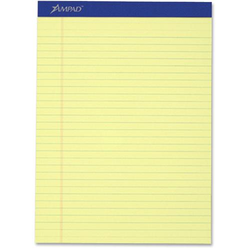 """Ampad Perforated Ruled Pads - Letter - 50 Sheets - Stapled - 0.34"""" Ruled - 8 1/2"""" x 11""""8.5""""11.8"""" - Dark Blue Binder - Sturdy Back, Chipboard Backing, Perforated, Tear Resistant - 12 / Dozen. Picture 2"""