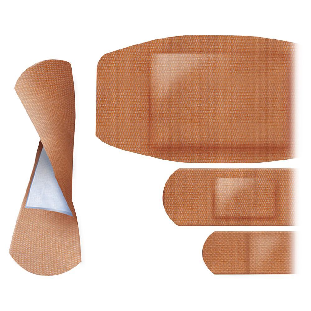 Curad Flex-Fabric Bandages - 100/Box - Tan - Fabric. Picture 2