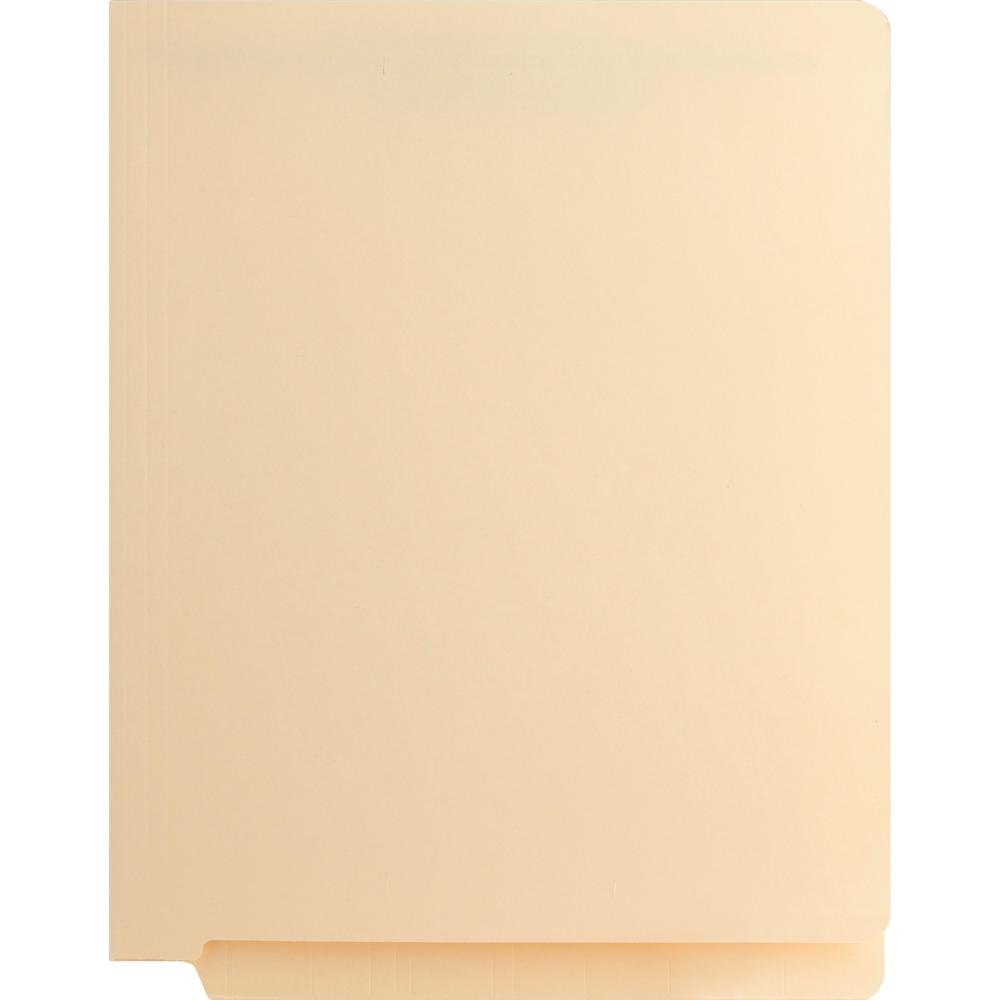 """Business Source 3/4"""" Expanding Medical File Folders - Letter - 8 1/2"""" x 11"""" Sheet Size - 3/4"""" Expansion - 2"""" Fastener Capacity - End Tab Location - 11 pt. Folder Thickness - Manila - Recycled - 40 / B. Picture 3"""