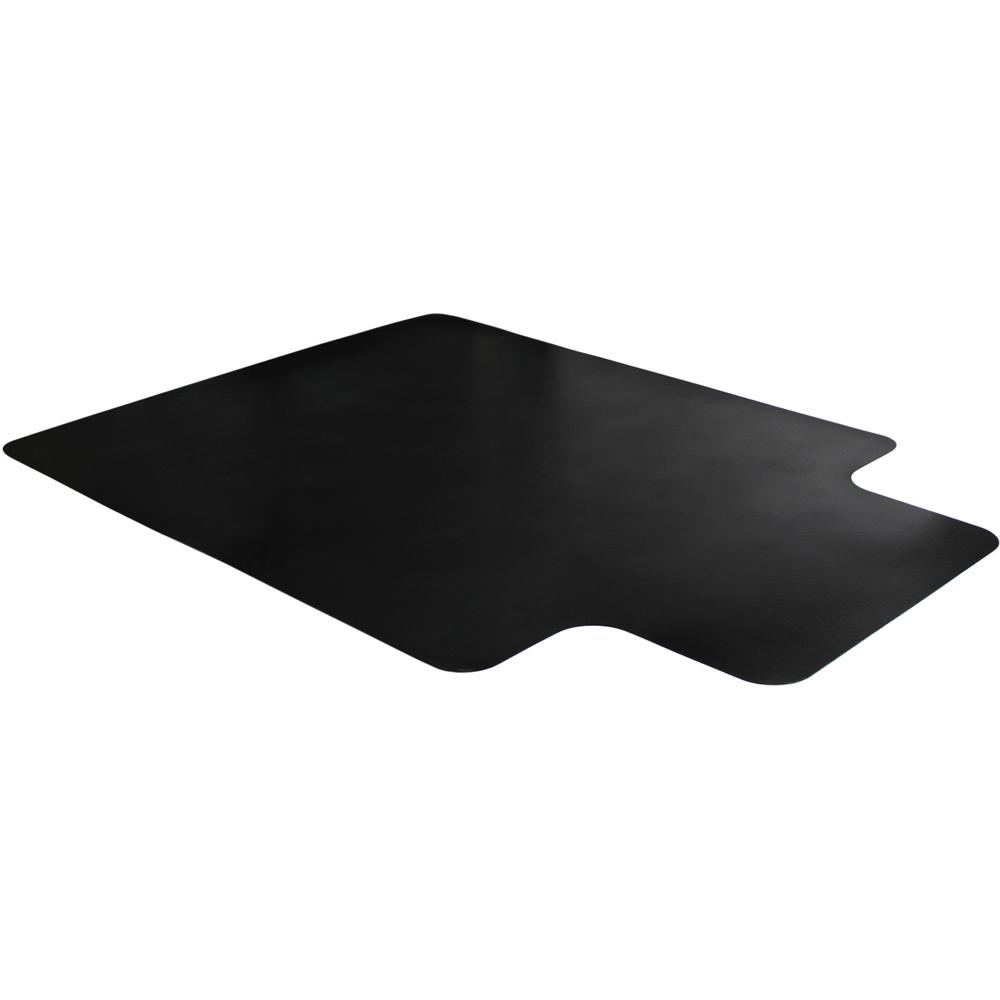 "Cleartex Advantagemat Floor Chair Mat - Hard Floor - 48"" Length x 36"" Width x 0.60"" Thickness - Lip Size 20"" Length x 10"" Width - Rectangle - Classic - Polyvinyl Chloride (PVC) - Black. Picture 3"