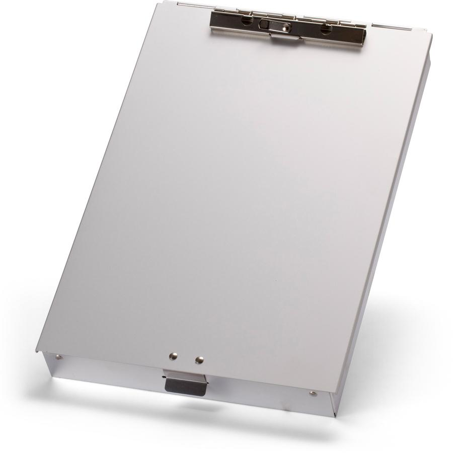 """OIC Aluminum Storage Form Holder - 1"""" Clip Capacity - Stationary - 8 1/2"""" x 12"""" - Aluminum - 1 Each. Picture 3"""